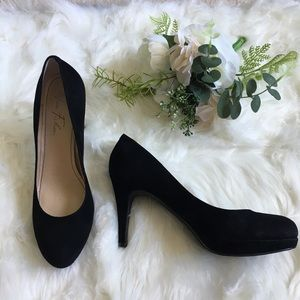 Marc Fisher Sydney Black Suede Stiletto Pumps